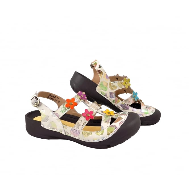 Laura Vita Beziers 11 Closed Toe Chunky Sandal