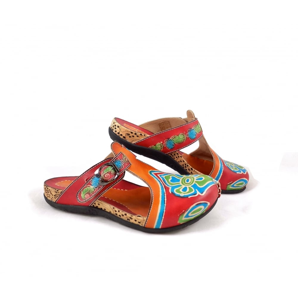 laura vita bijou slip on clogs in multicolour leather rubyshoesday. Black Bedroom Furniture Sets. Home Design Ideas