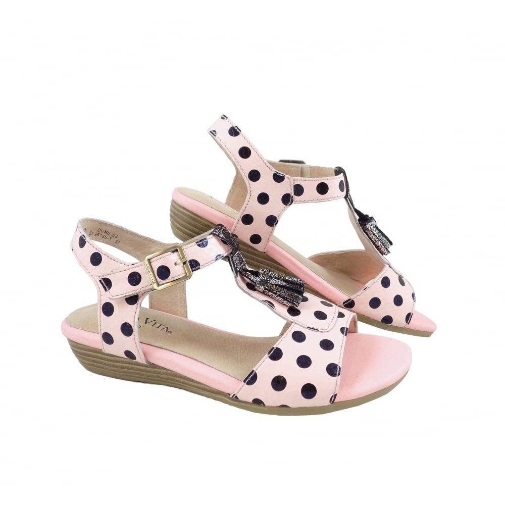 Laura Vita Dune 03 In Black And Pink Polka Dots Rubyshoesday