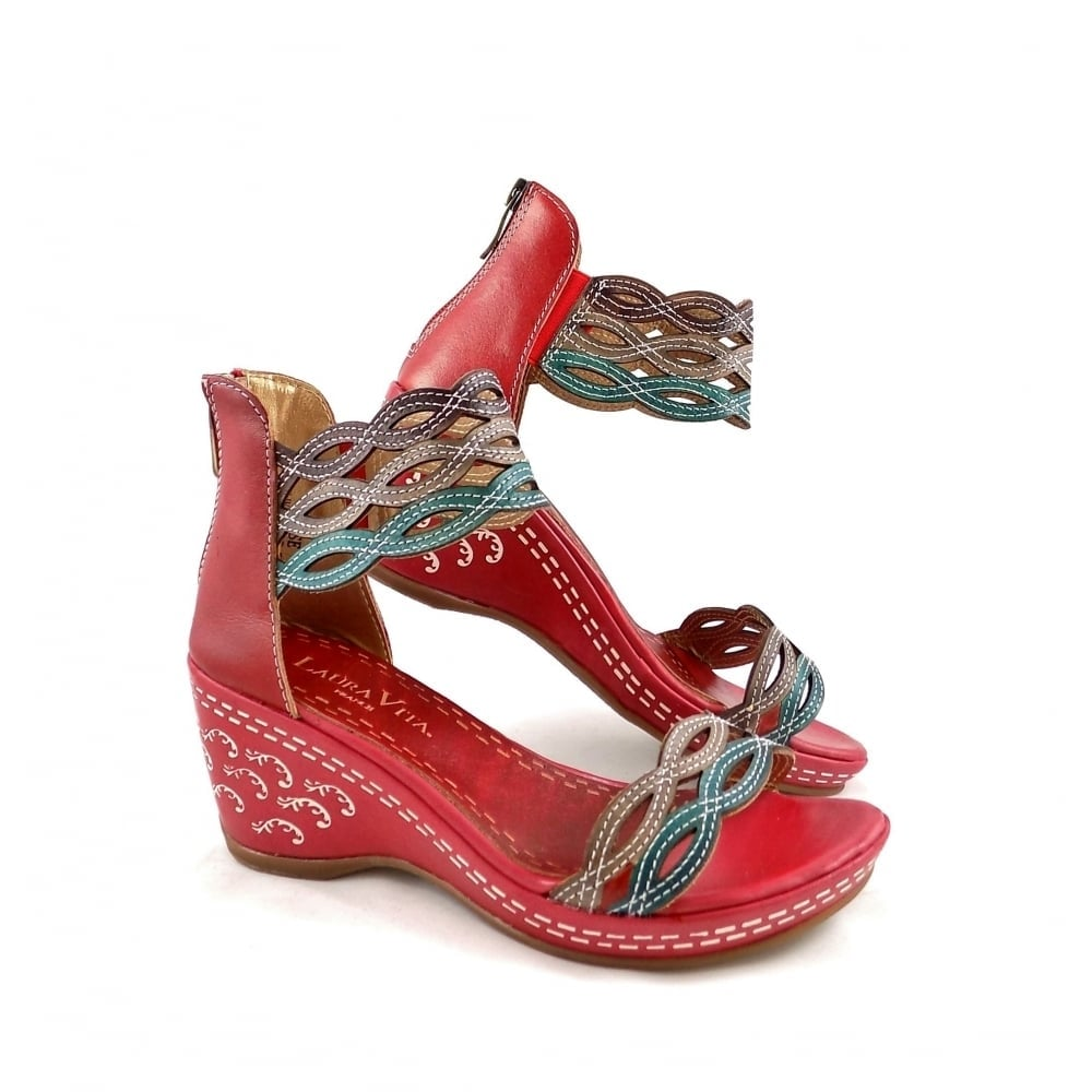 Laura Vita Venise Wedge Sandals with