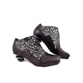 Lisa Tucci Isca Mid Heel Shoe Boot with Laser Cut Detail