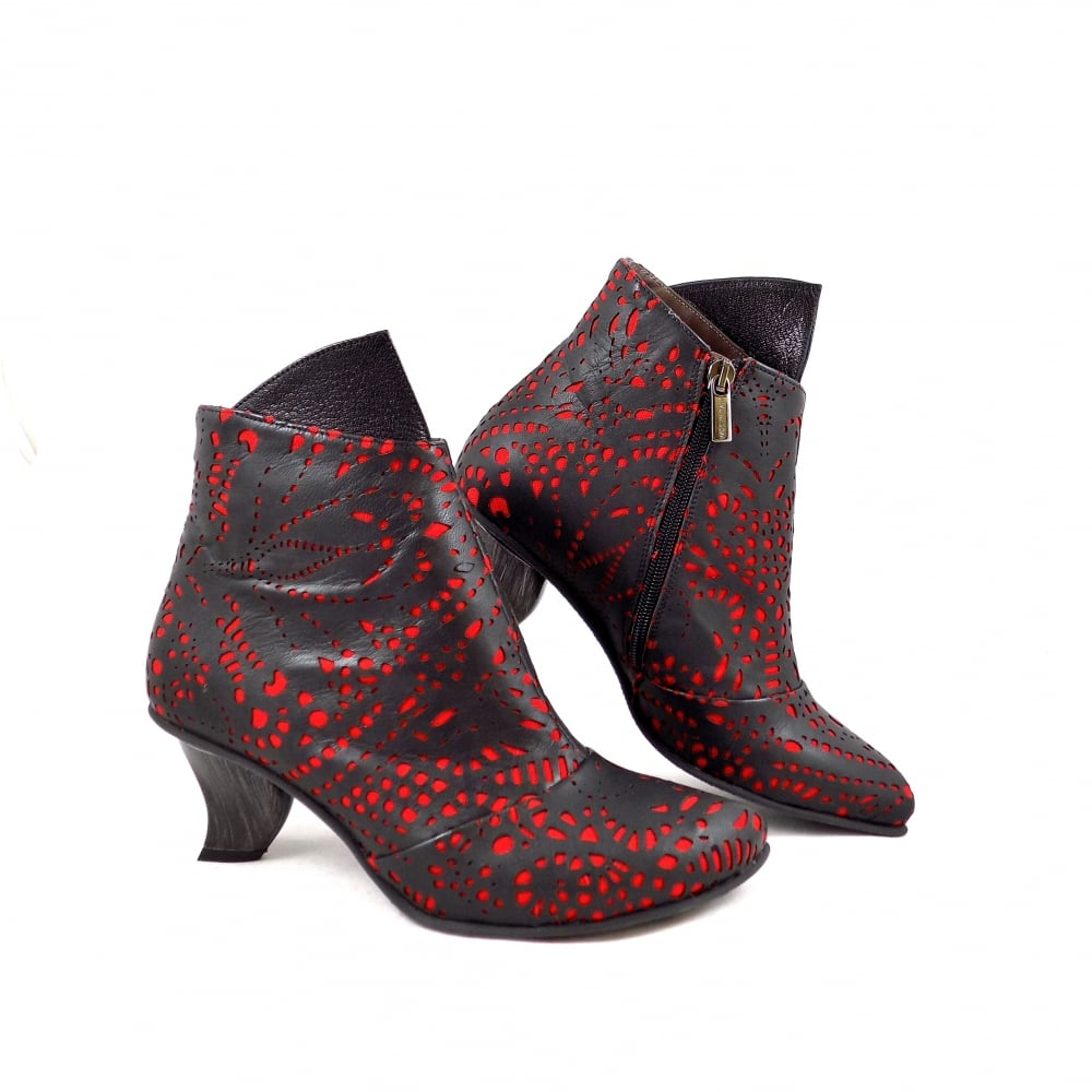Lisa Tucci Trani Ankle Boots With Laser Cut Details