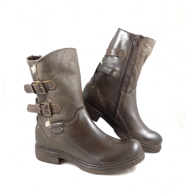 Manas 1954 Chunky Ankle Boot with Buckles