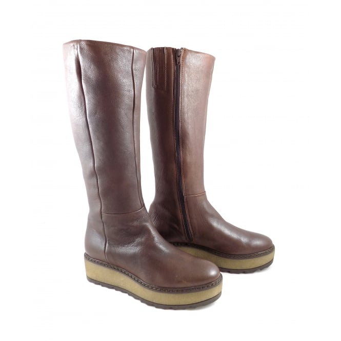 Manas 5006 Long Boot with Chunky Flatform Sole
