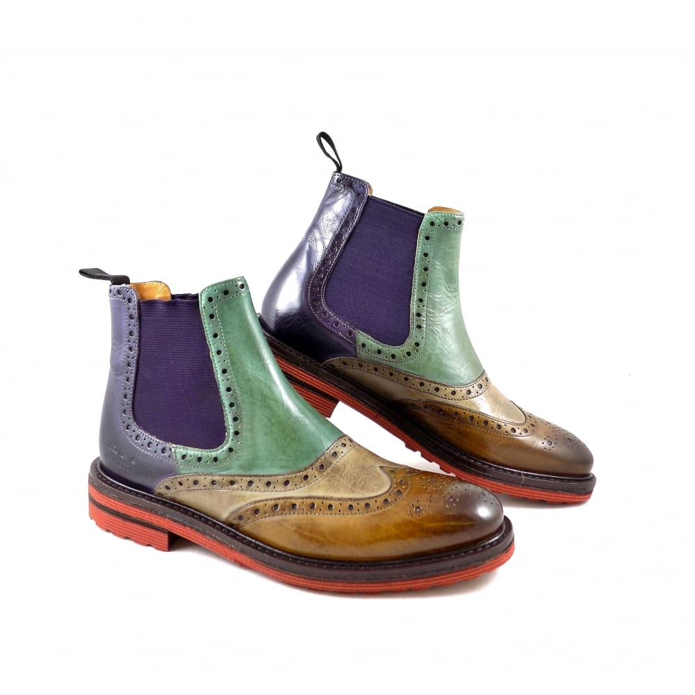 fce225f2fceb Melvin   Hamilton Amelie 24 Chelsea Boot with Brogue Detail