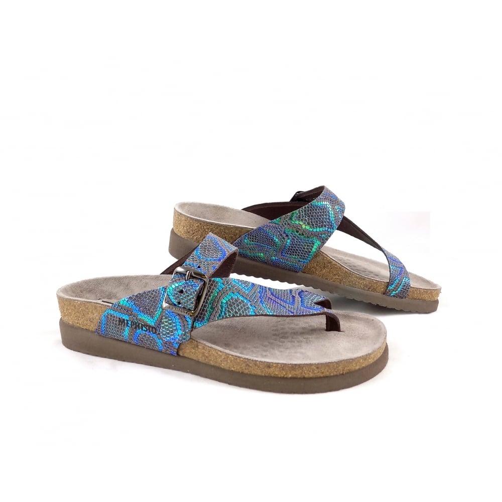 f2ff64c2d855 Mephisto Helen Toe Post Sandals in Dark Brown Nairobi