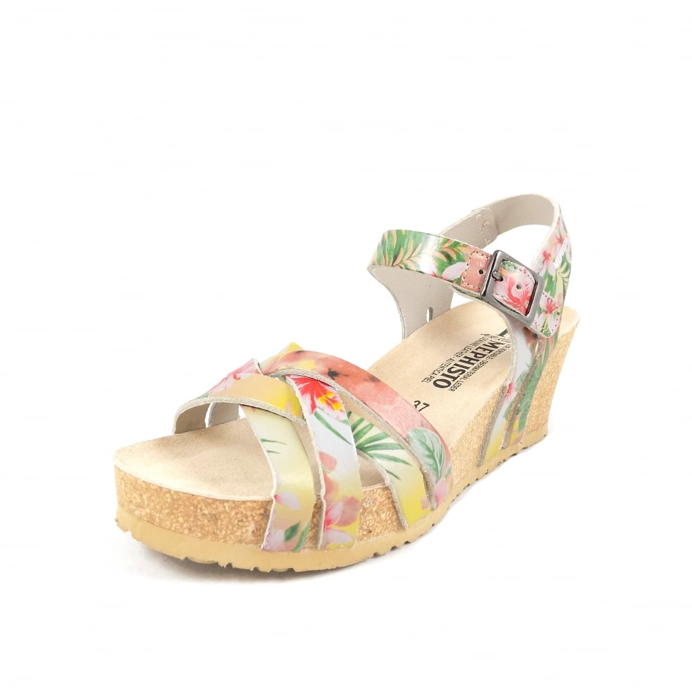 78999d00621292 Mephisto Lanny Wedge Heeled Sandals in Tropic Pink