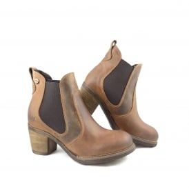 Oak & Hyde East Chelsea Ankle Boot with Mid Heel