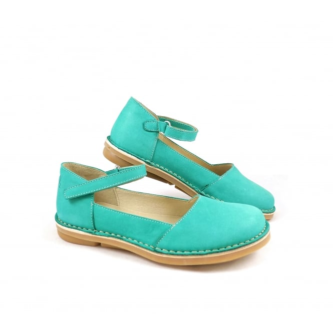 Oxygen Lisbon Flat Shoe with Ankle Strap