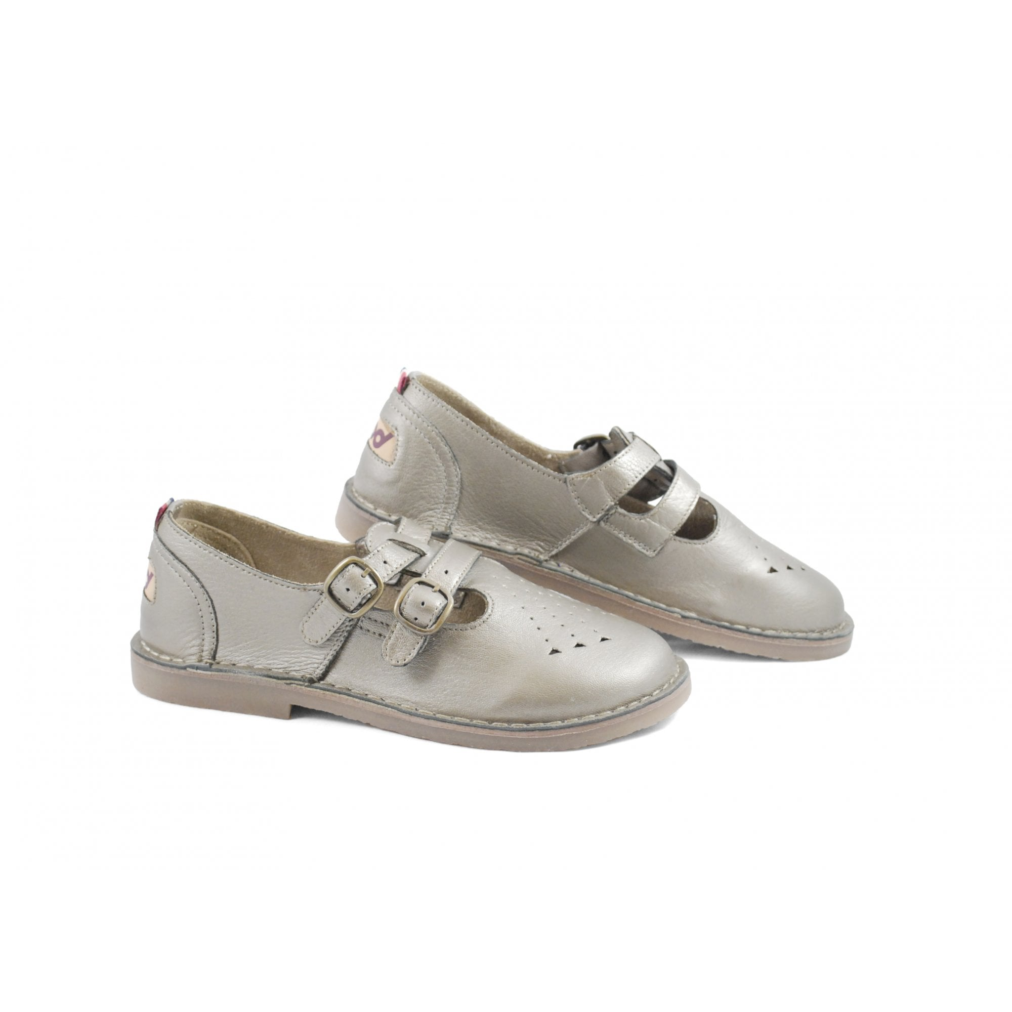 Pod Heritage Ladies Marley White T-Bar Sandals Retro Flat Shoes New
