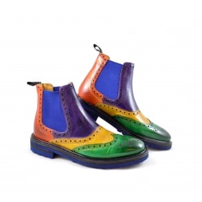 Melvin & Hamilton Amelie 24 Chelsea Boot with Brogue Detail