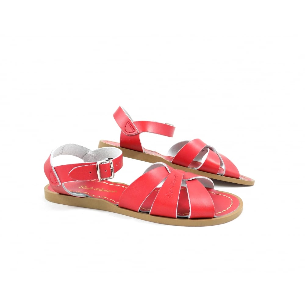 393413f90b76 Salt-Water Sandals Original Flat Cross Over Strap Red
