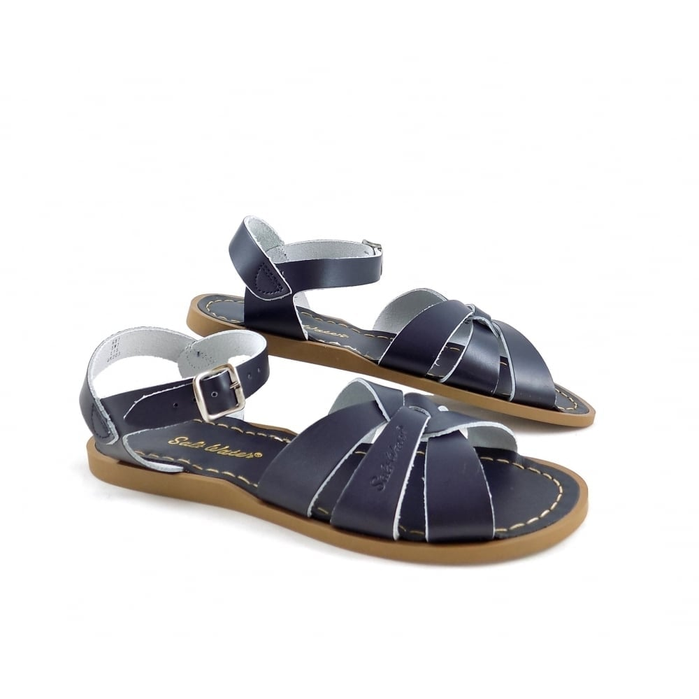 salt water sandals original water sandals navy leather rubyshoesday. Black Bedroom Furniture Sets. Home Design Ideas