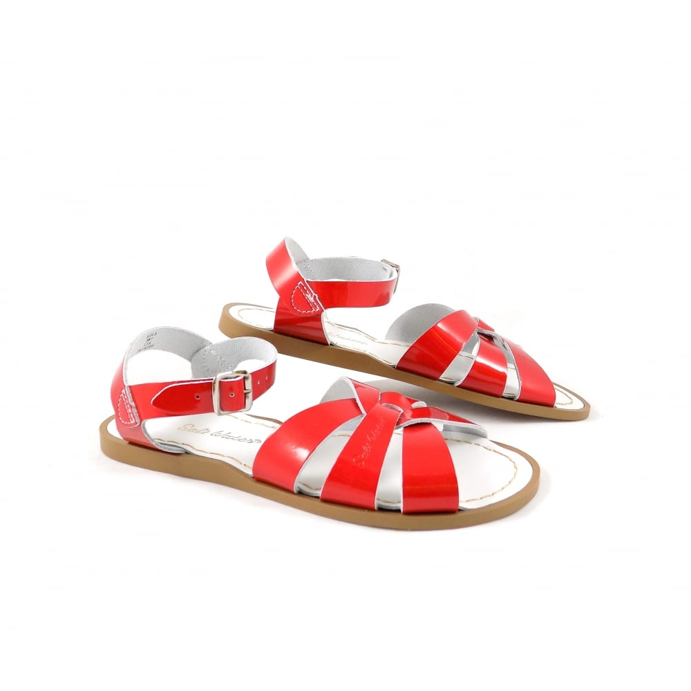 salt water original flat sandals in candy red rubyshoesday. Black Bedroom Furniture Sets. Home Design Ideas