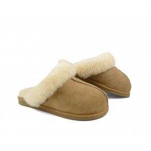 205e4cd8 Shepherd Annie Sheepskin Slipper Boots in Honey/Silver | rubyshoesday