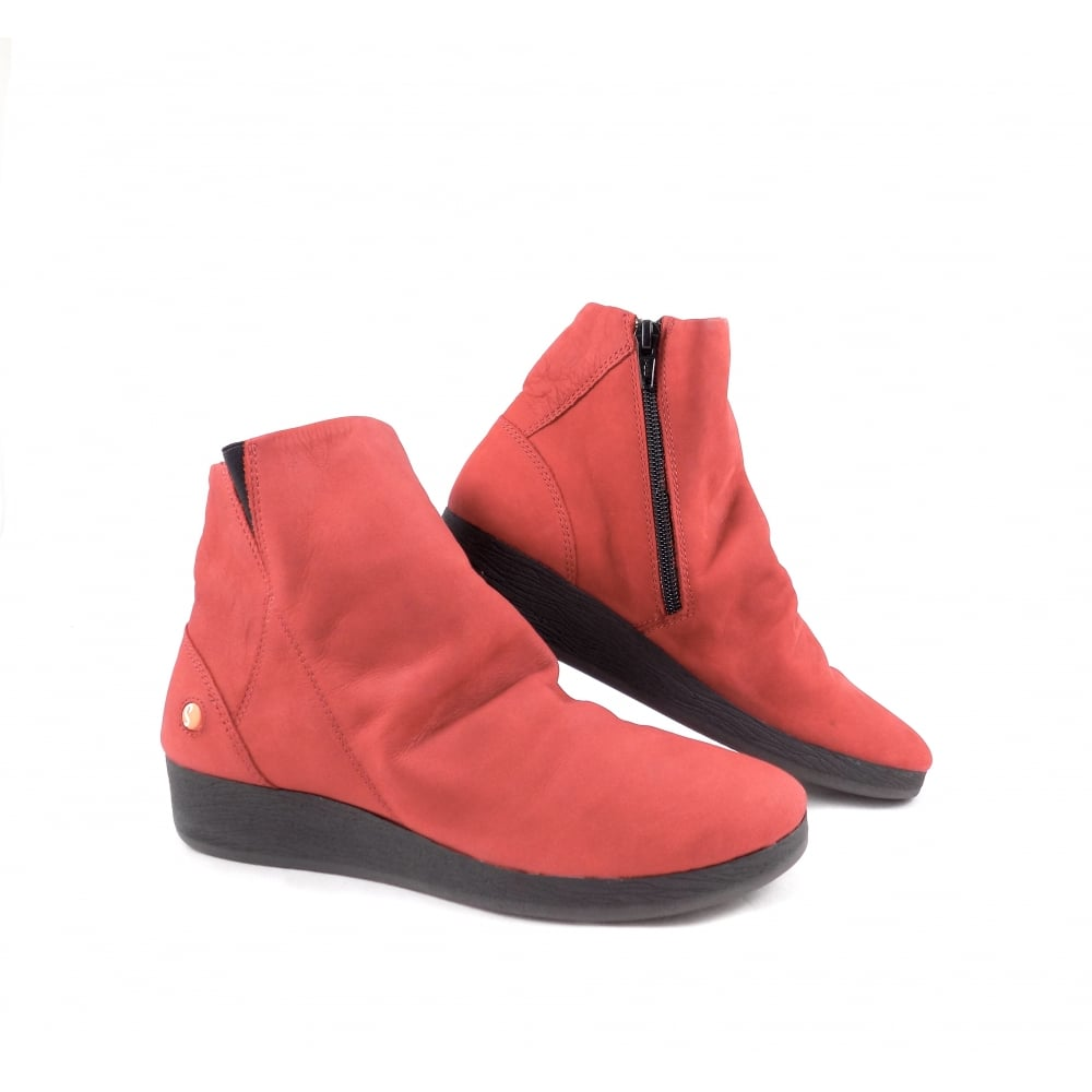 Softinos Ayo Low Wedge Ankle Boots in