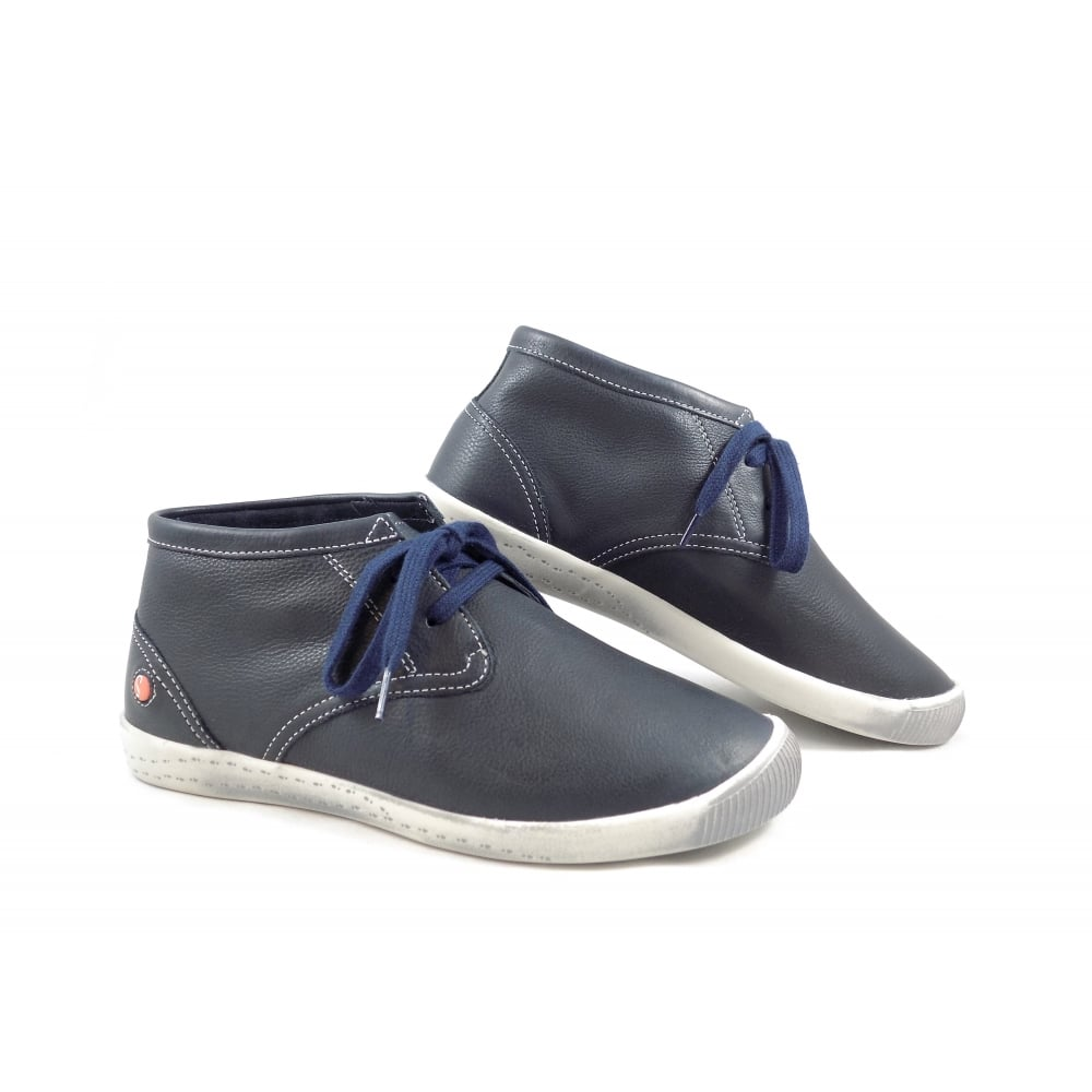 39acf67466d8 Softinos Indira Super Soft Desert Boots in Navy Leather   rubyshoesday