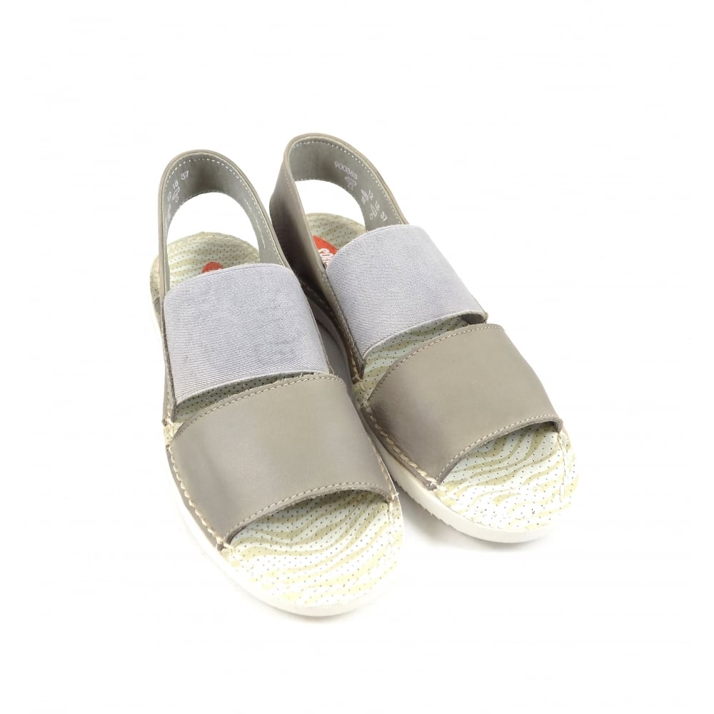 25436feb3ad5 Softinos Tai Super Soft Casual Sandals in Taupe Leather