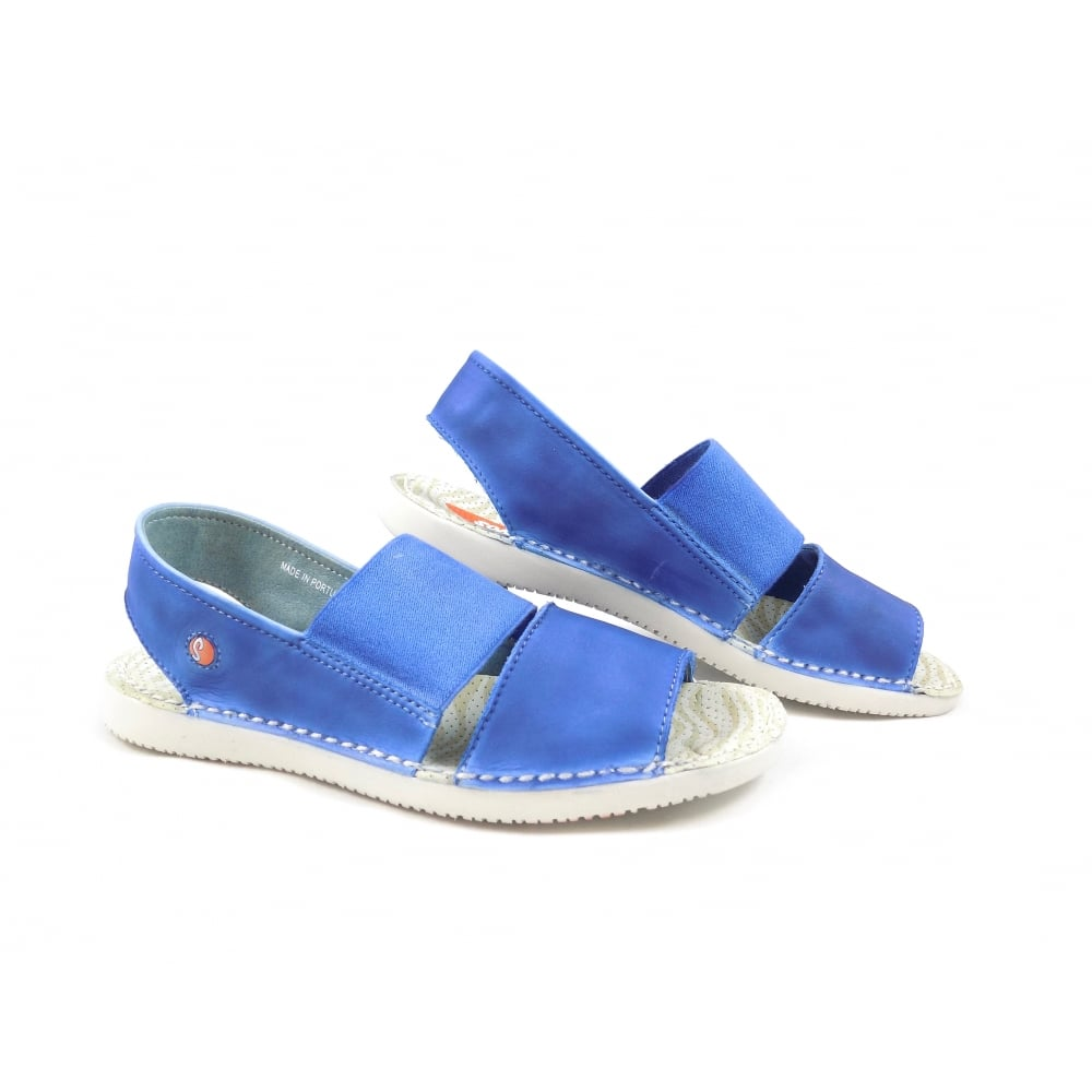 30b5e7751049 Softinos Tai Super Soft Casual Sandals in Blue Leather