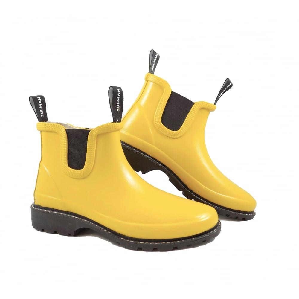 faf48b90384 Sulman Sulman Agnes Chelsea Style Short Wellington Boot