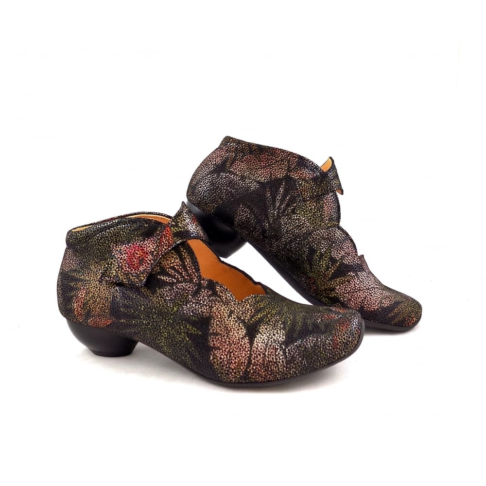 Think Aida 87258 09 Low Heel Shoe Boots In Black
