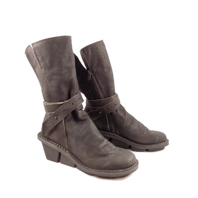 Trippen Concept Mid Calf Boot with Wedge Heel