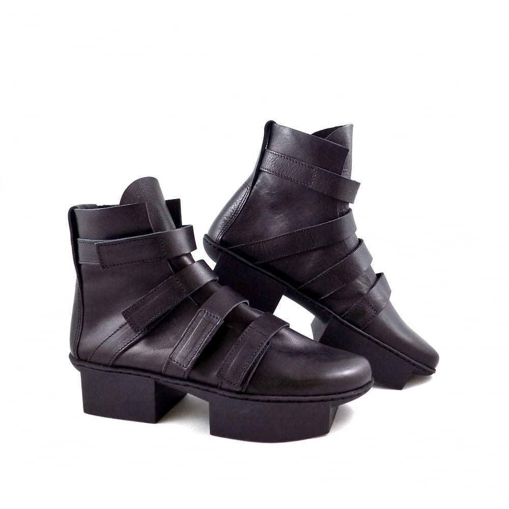 Trippen Path Multi Strap Ankle Boots With Two Part Sole