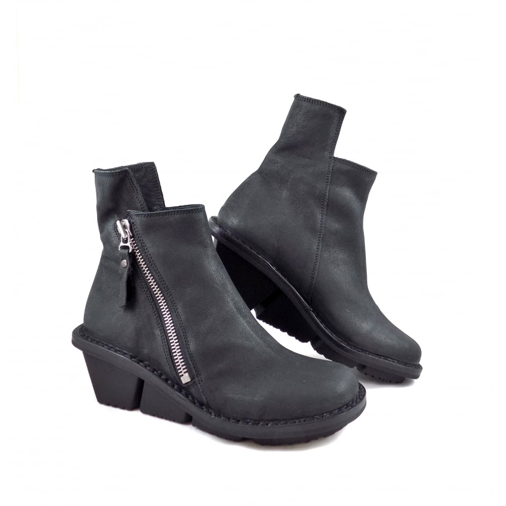 560cf70bc8d Proper Wedge Ankle Boot with Oversize Zip