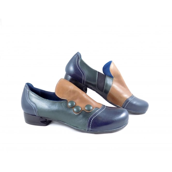 Vladi 1009 Slip On Shoe with Button Detail