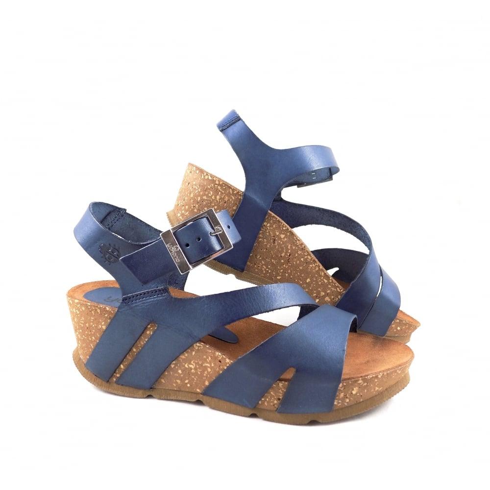 Yokono Bari Chunky Wedge Sandals in