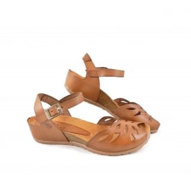 Yokono Capri 003 Low Wedge Peep Toe Sandal