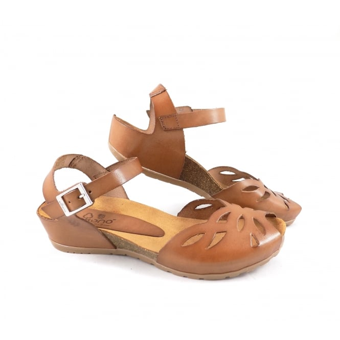 Yokono Capri 003 Open Toe Low Wedge Sandal