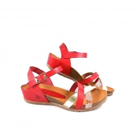 Yokono Capri 006 Low Wedge Strappy Sandal