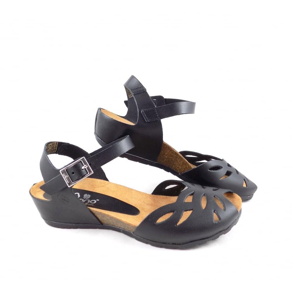 f0aee22005d Yokono Capri 003 Retro Style Open Toe Sandals in Black