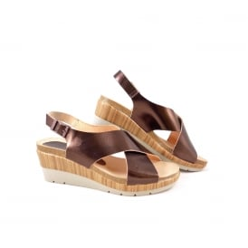 Yokono Daya 006 Wedge Sandal with Cross Over Straps
