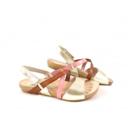 Yokono Ibiza 093 Flat Sandal with Cross Over Straps