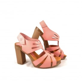 Yokono Malibu 015 High Heel Sandal with Cut Outs